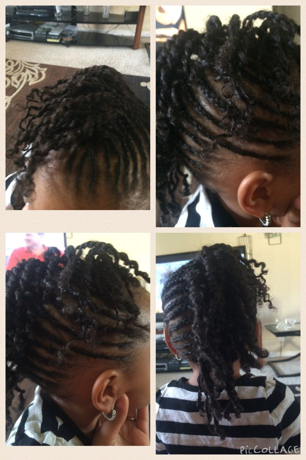 Mohawk with twist and braids