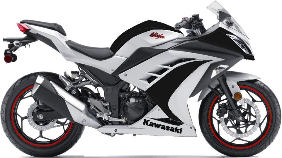 Kawasaki Ninja 300 Black And White With Red Rims Fast Kawasaki