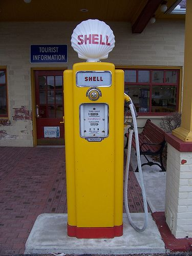 Old Shell Gasoline Pump | gas pumps | Old gas pumps, Gas