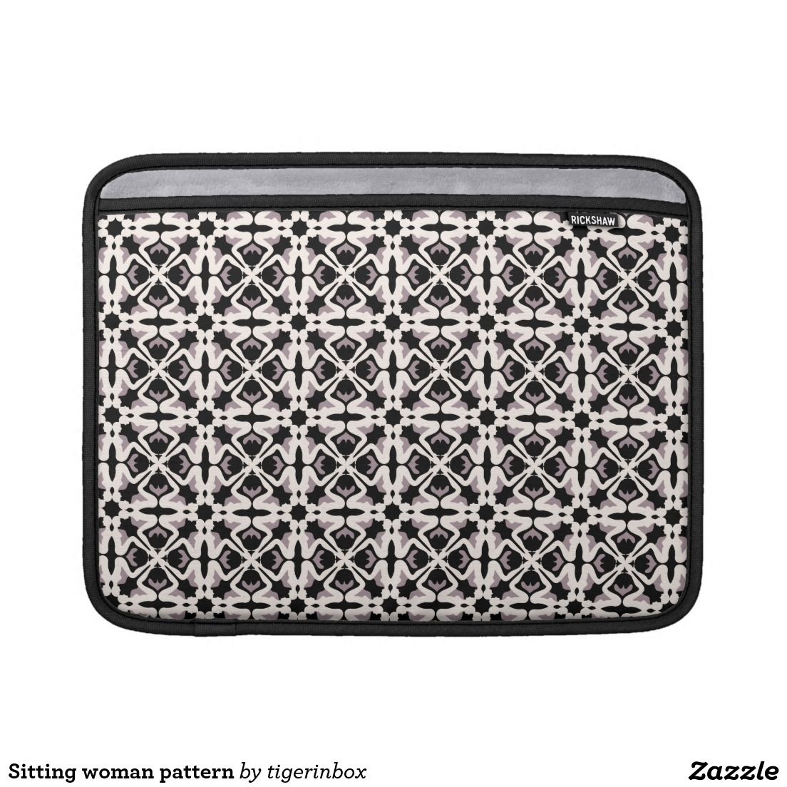 "Rickshaw MacBook Air sleeve with beautiful black & white pattern.  It is simple, stylish and made with water resistant fabrics and an ultra-plush padded liner. Sized for MacBook Air 11"" or MacBook Air 13""  $69.45"
