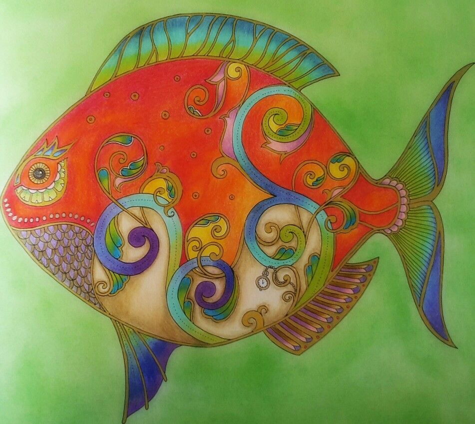 Fish from Lost Ocean colouring book Inspired by Peta Hewitt ...