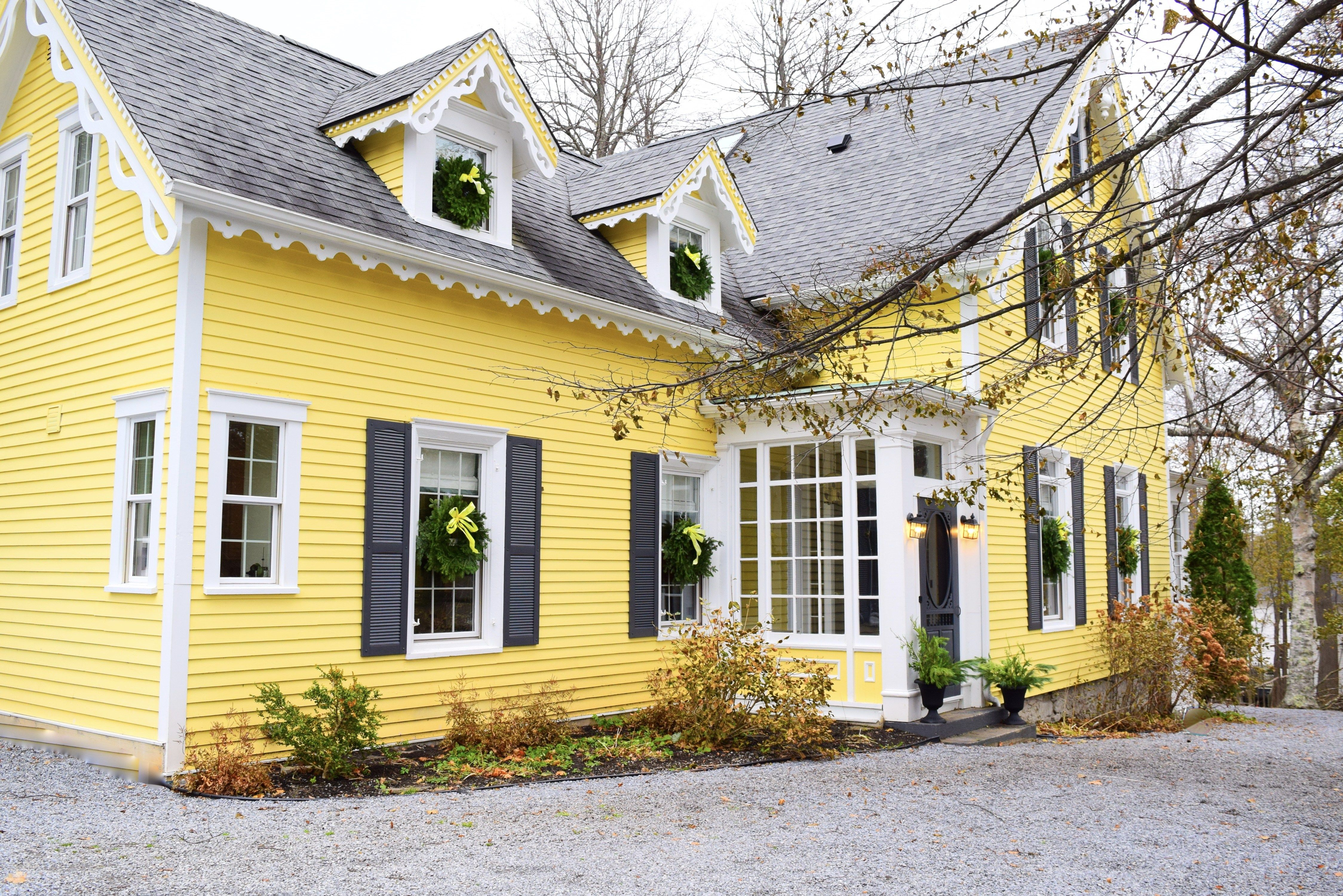 Gorgeous Yellow House Yellow Home Yellow Siding Beautiful Yellow Cottage Lincluden Cottage Life Holiday Home House Tours Cottage