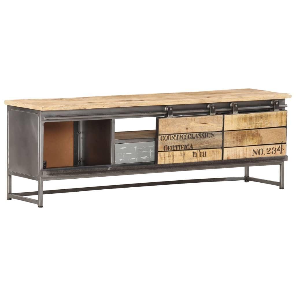 Vida Tv Cabinet 120x30x40 Cm Solid Mango Wood