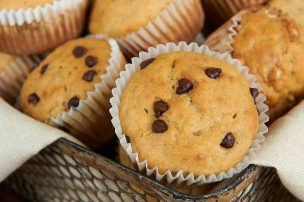 after school snack ideas Banana and Peanut Butter Muffins