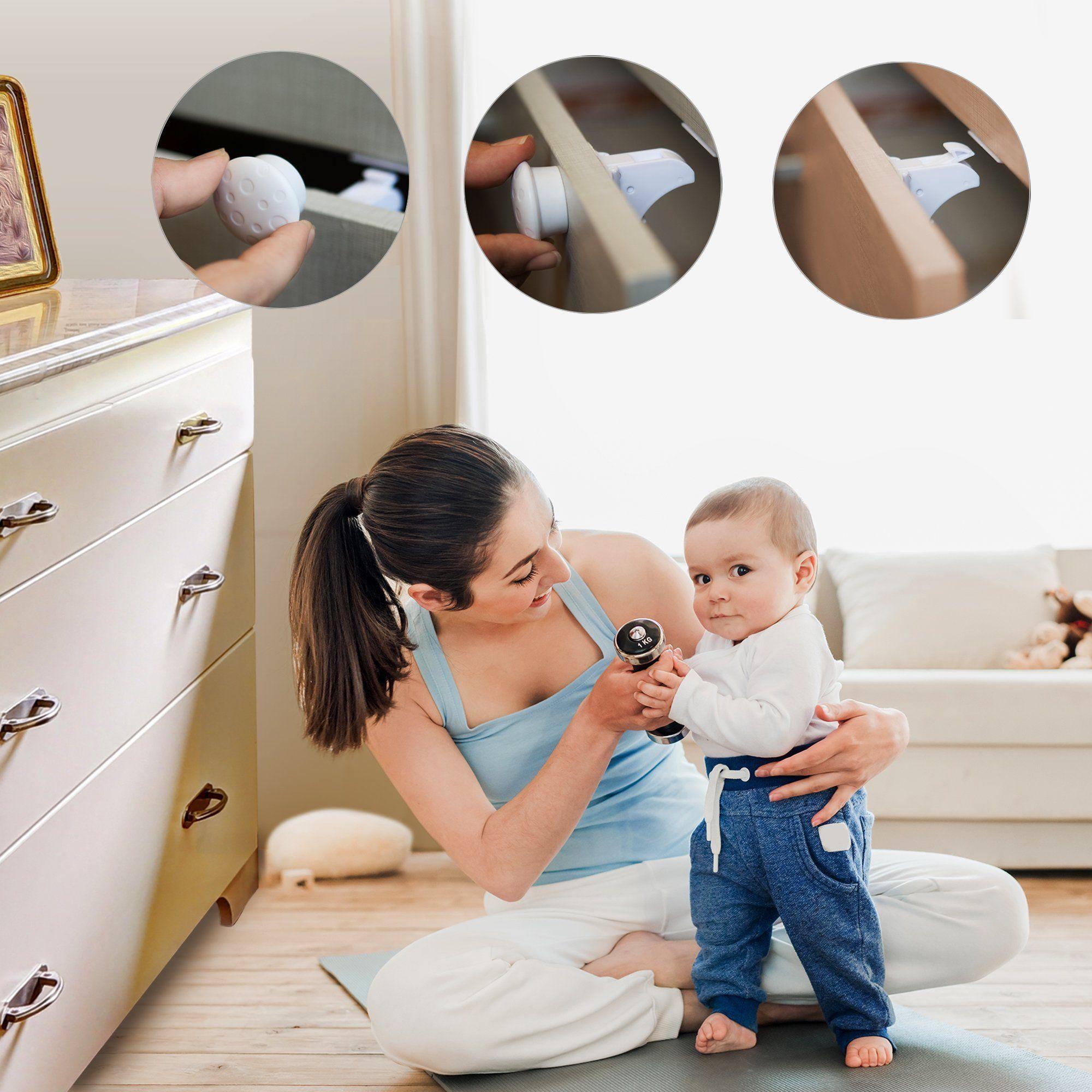 Baby safety locks lock away danger
