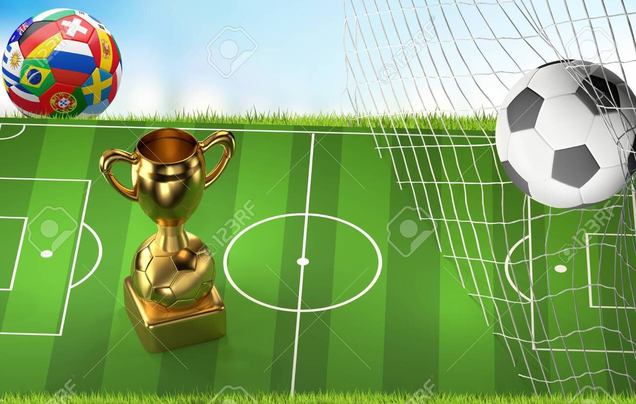Soccer Ball Playing Field And Soccer Net Goal 3d Illustration Ad Playing Ball Soccer Field Illustrat In 2020 Mixing Fonts Typography Fonts 3d Illustration
