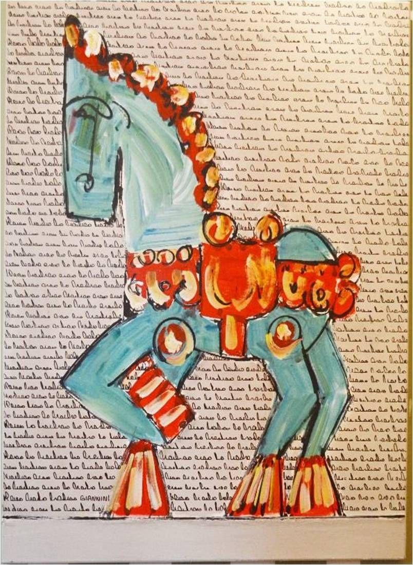 Caballo De Troya Pinturas Dibujos Arte Pintura