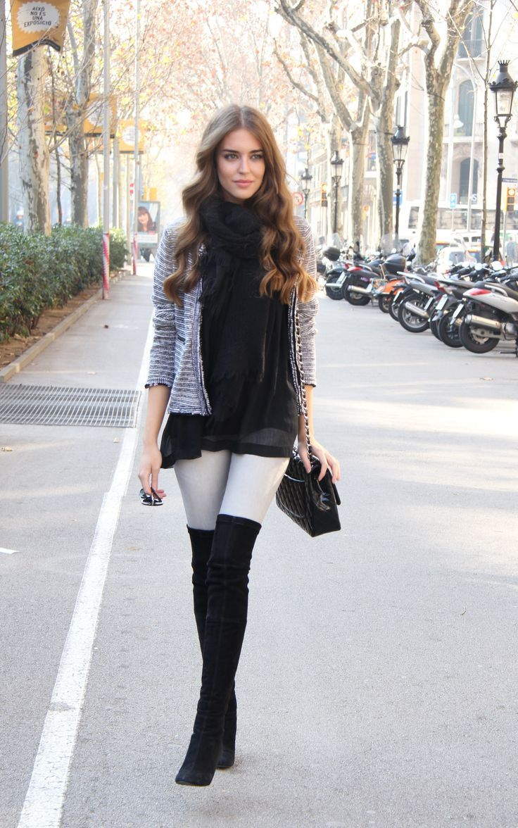 25 Most Trendy Over The Knee Boots Outfit Ideas | Knee boot