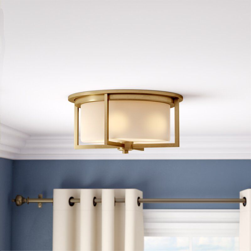 Tomlin 3 Light 15 Shaded Drum Flush Mount Flush Mount Lighting Brass Ceiling Light Light