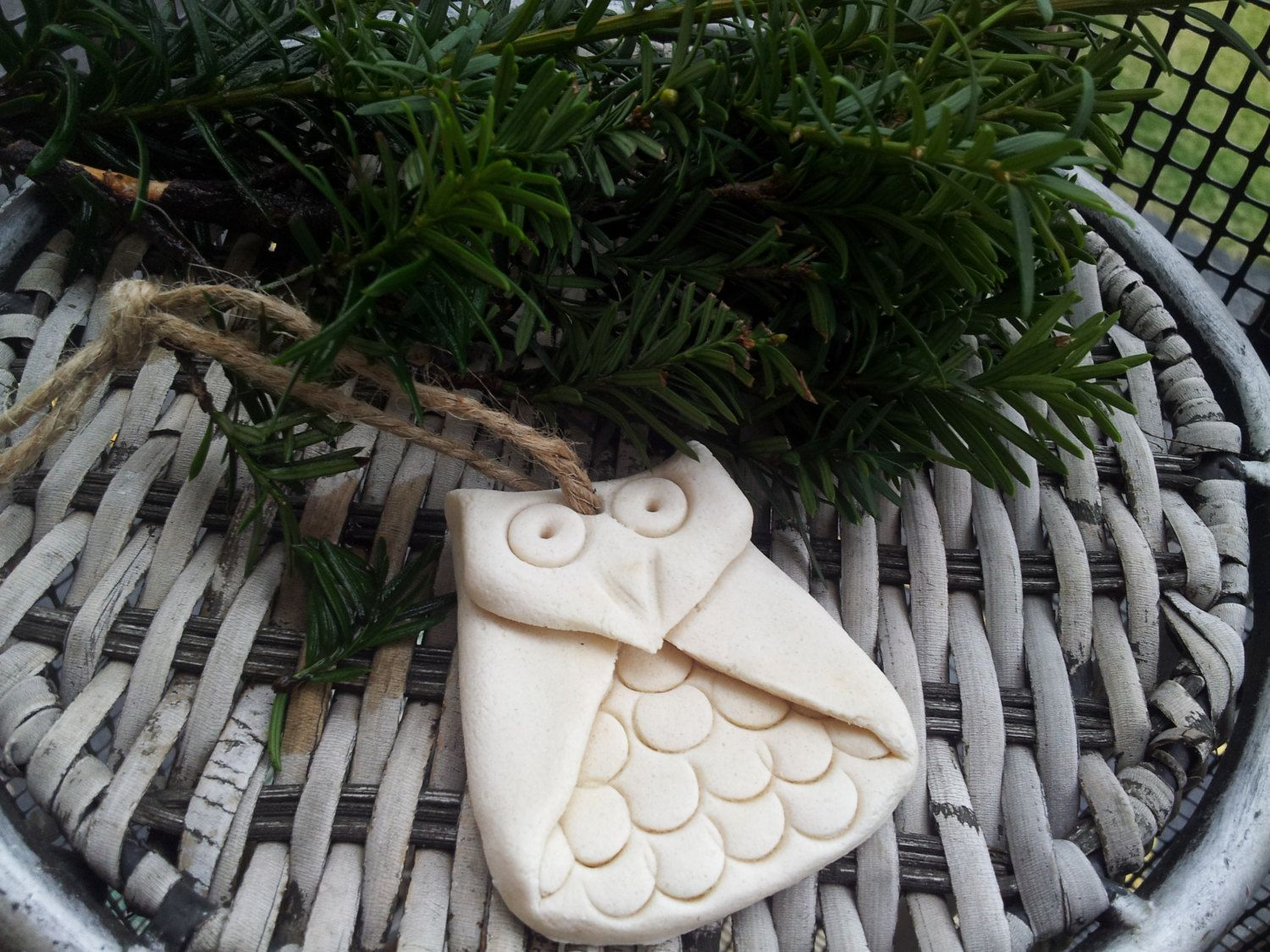 Owls Christmas Tree Ornaments made out of Salt by MomToTheMax, $14.99