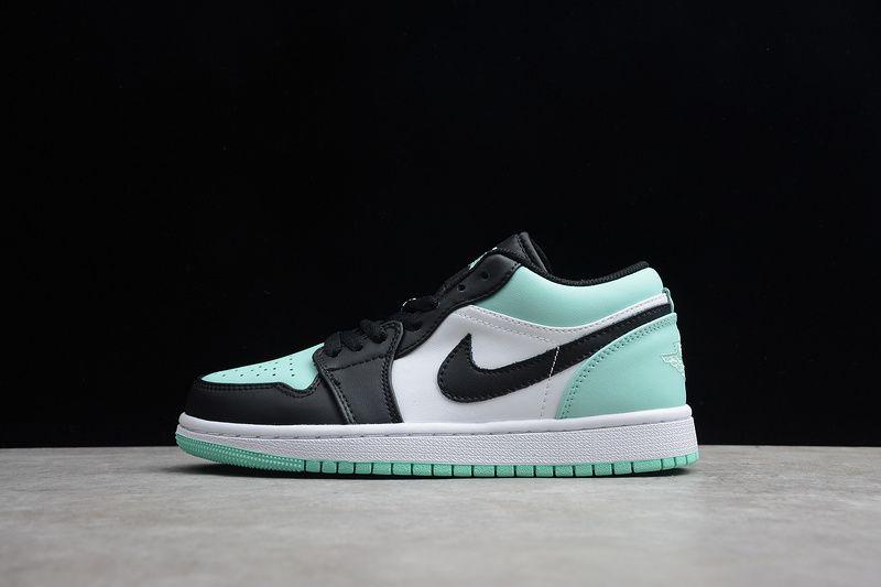 75 99 Cheap Nike Air Jordan 1 Low Black Light Blue 553558 117