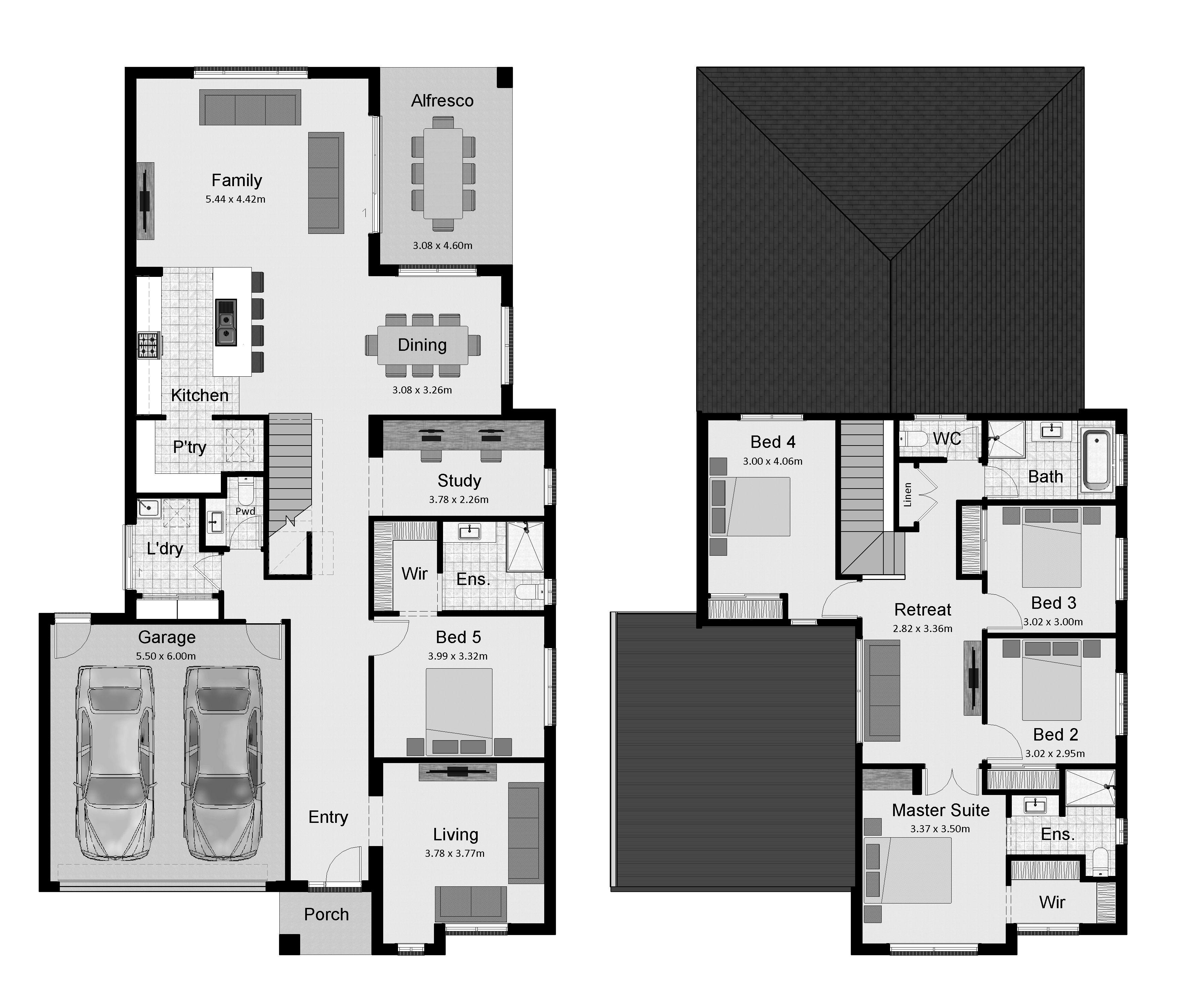The Tarwin 301 House Floor Plans House Plans House Design