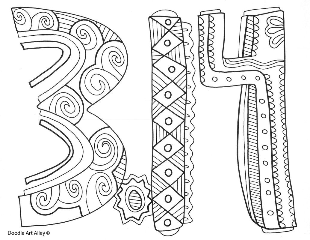 Free Coloring Pages and printables for Celebrating Pi Day
