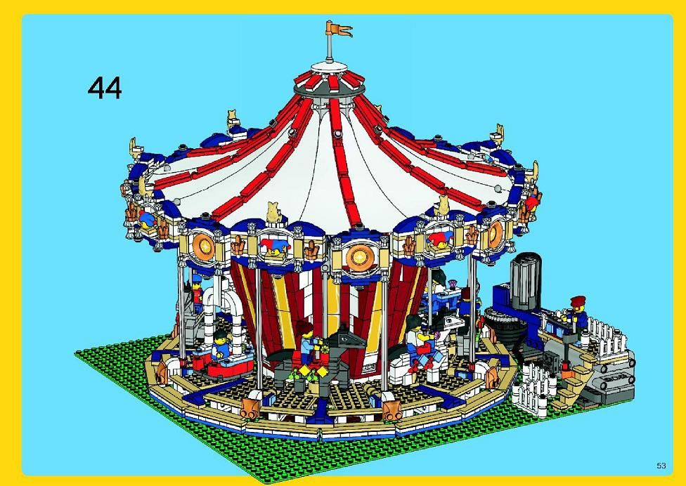 Town Grand Carousel Lego 10196 Moc Ideas Pinterest