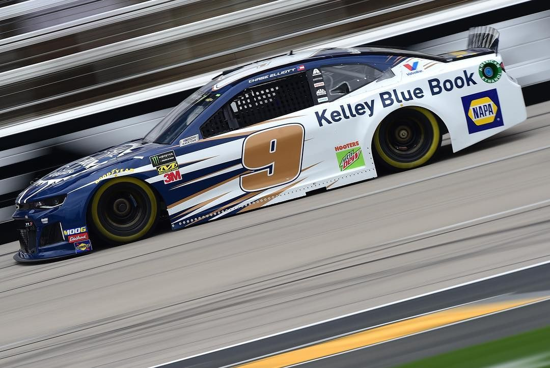 Image may contain car and outdoor Nascar, Chase elliott