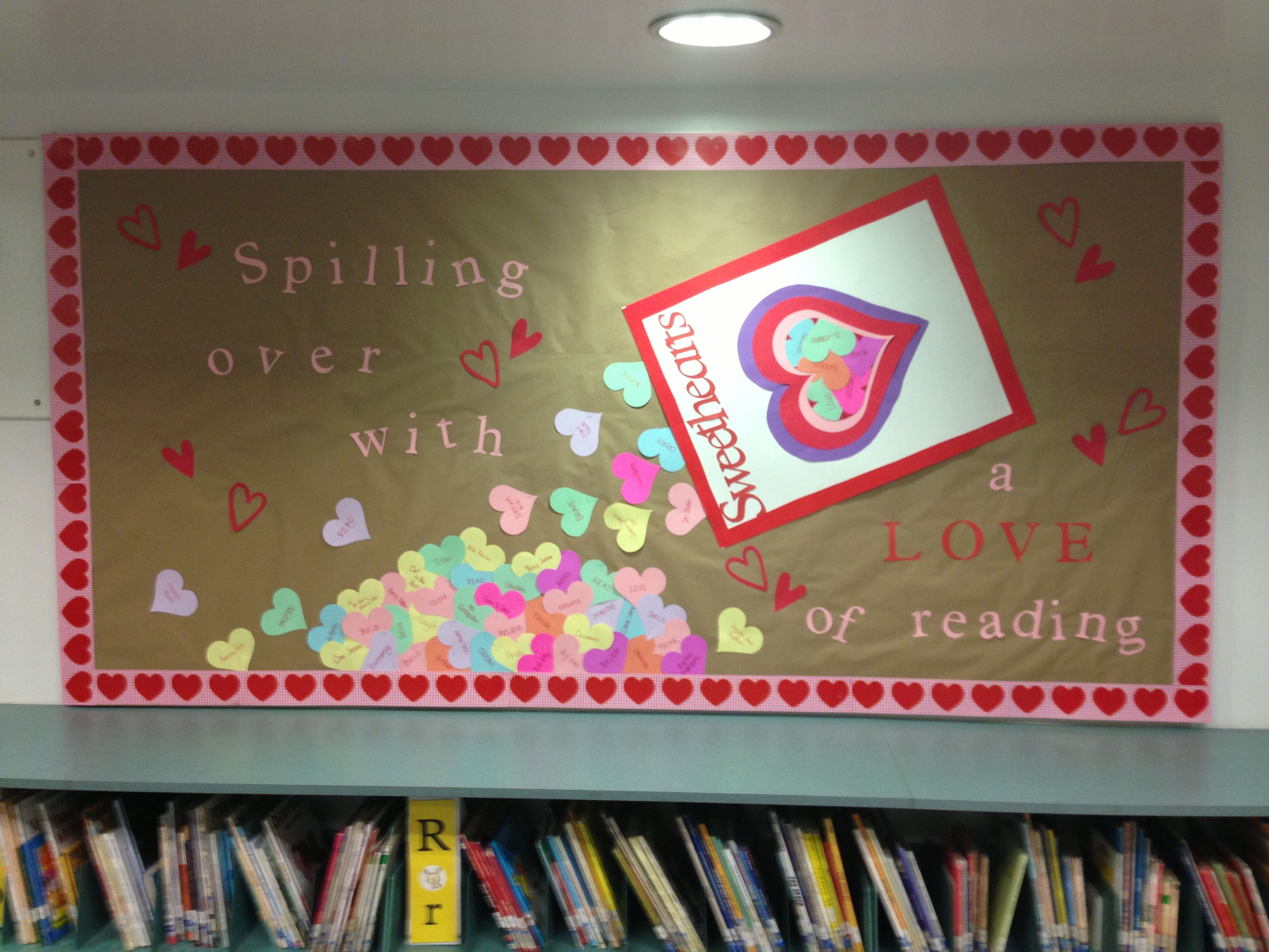 Valentines Library Board Library Bulletin Boards