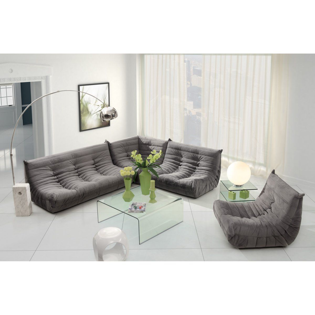 Zuo modern circus sectional sofa set living room at modern furniture