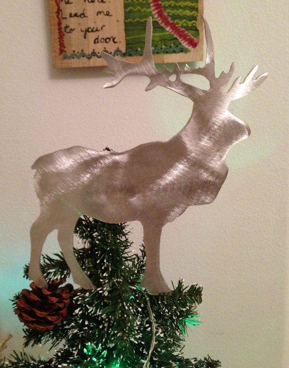Elk Handcrafted Metal Tree Topper Holiday by ScreenDoorGrilles - moose christmas decorations