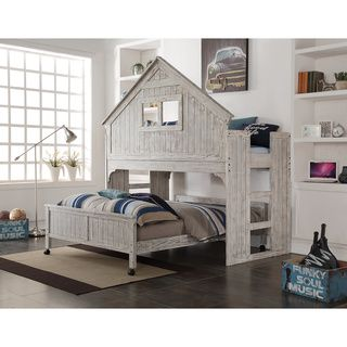 Donco Kids Rustic Sand Twin Tree House Loft Bed Overstockcom