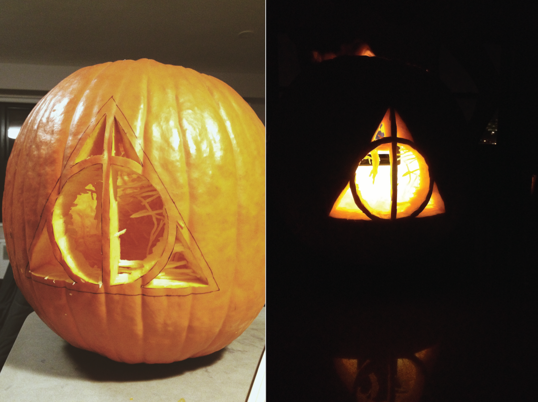 a deathly hallows pumpkin halloween pumpkin designs harry potter pumpkin harry potter pumpkin carving a deathly hallows pumpkin halloween