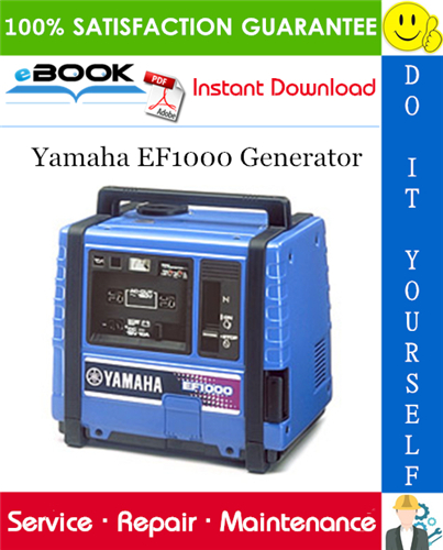 Yamaha Ef1000 Generator Service Repair Manual Repair Manuals Repair Yamaha