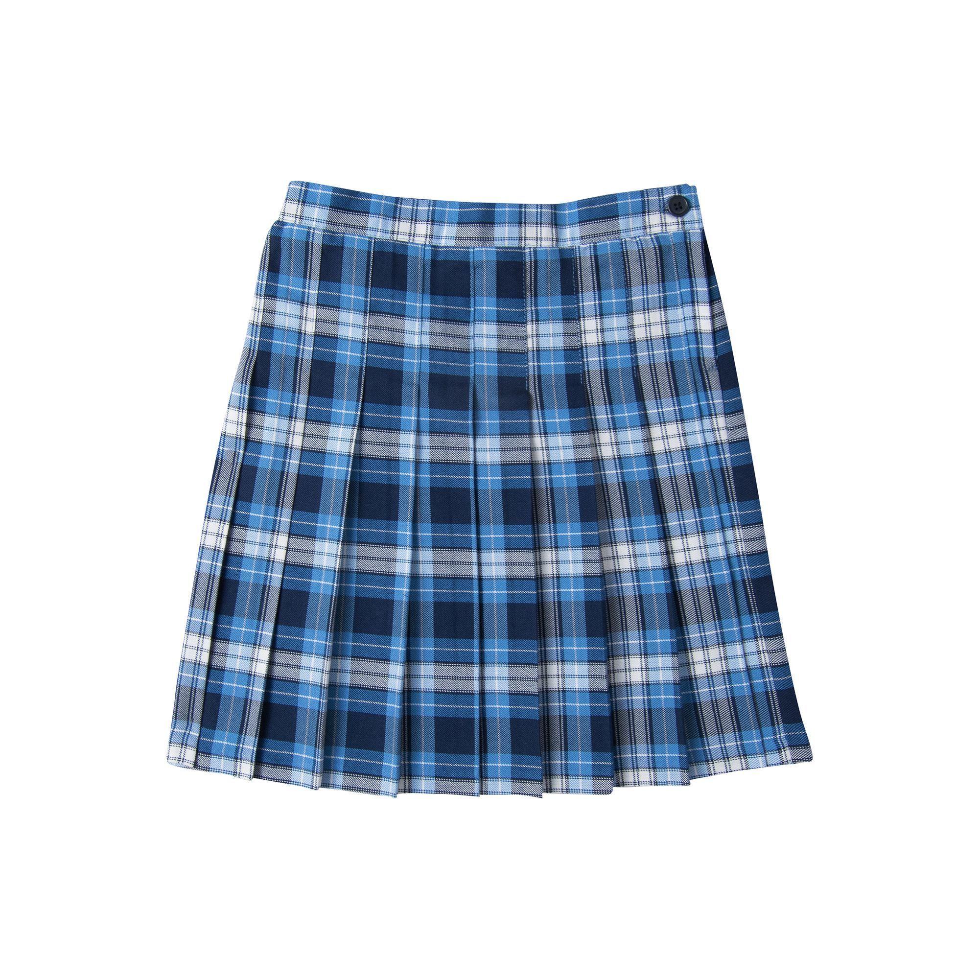 5fe28d4b98 Girls 4-16 Chaps School Uniform Plaid Skirt, Girl's, Size: medium (14),  Turquoise/Blue (Turq/Aqua)