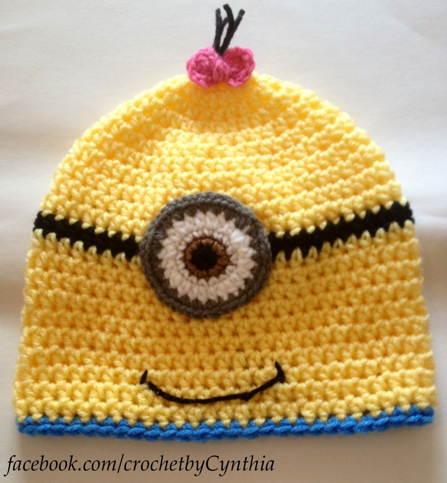 Crochet hat- despicable me inspired girl minion | Crochet! | Pinterest