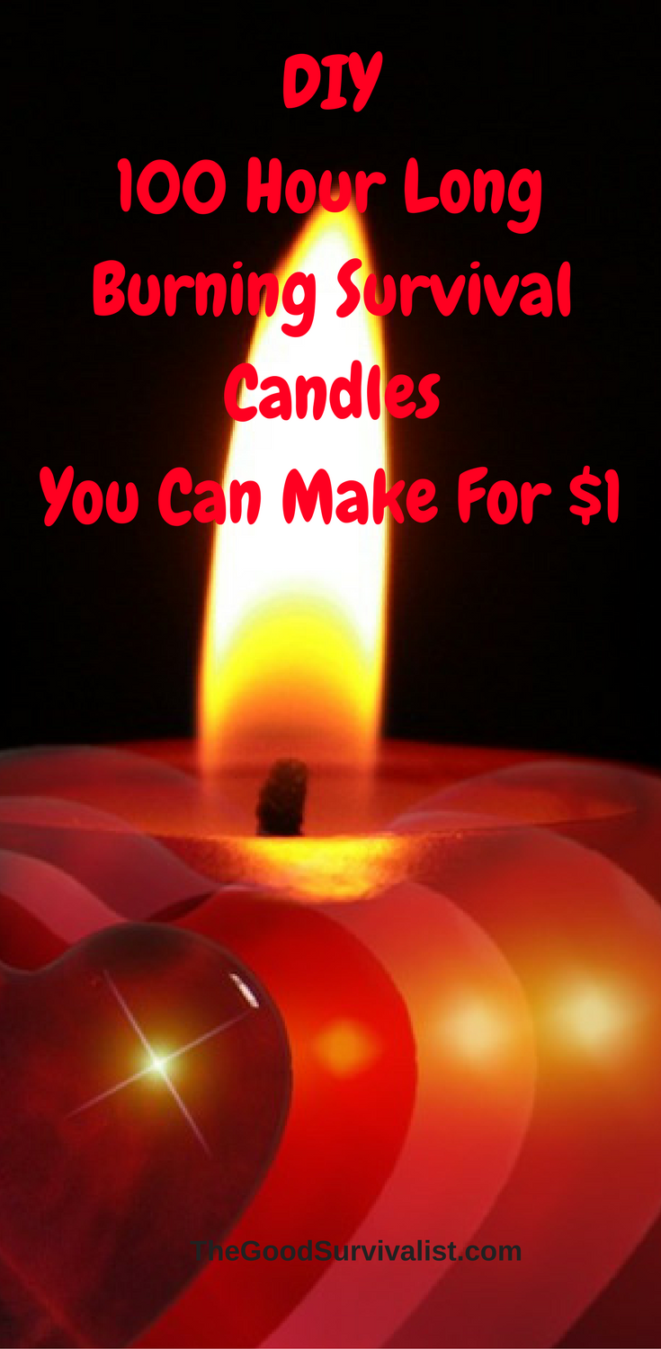 These diy 100 hour long burning emergency candles are very easy to make and at