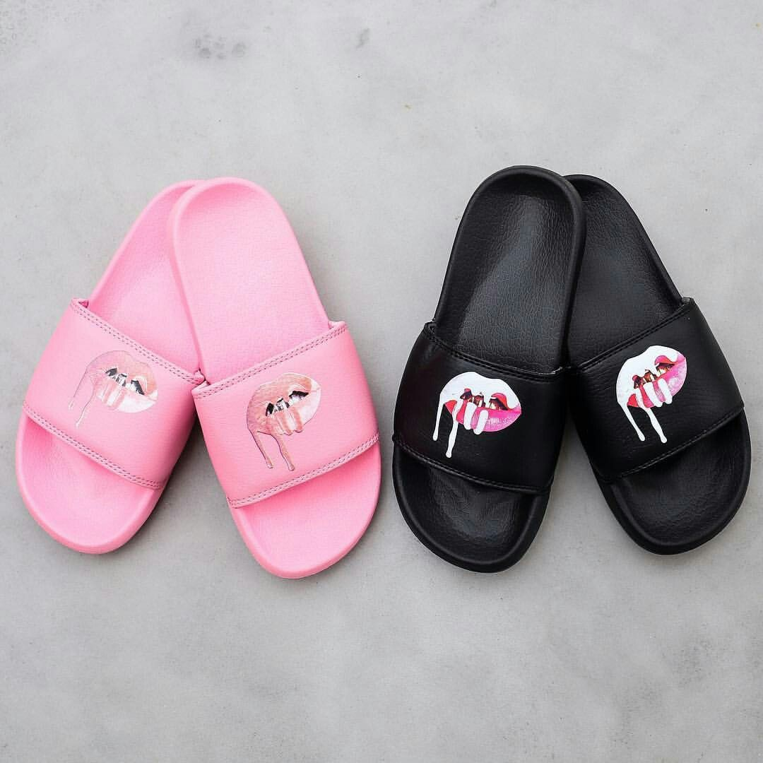 Kylie Lips Slides *available in pink & white* The Kylie