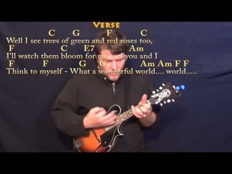 Over The Rainbowwonderful World Mandolin Cover Lesson With Chords