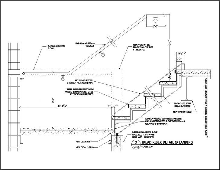 Stairs Wood Stair Construction Details Noir Vilaine Wood Stair Details Stair Detail How To Draw Stairs Concrete Staircase
