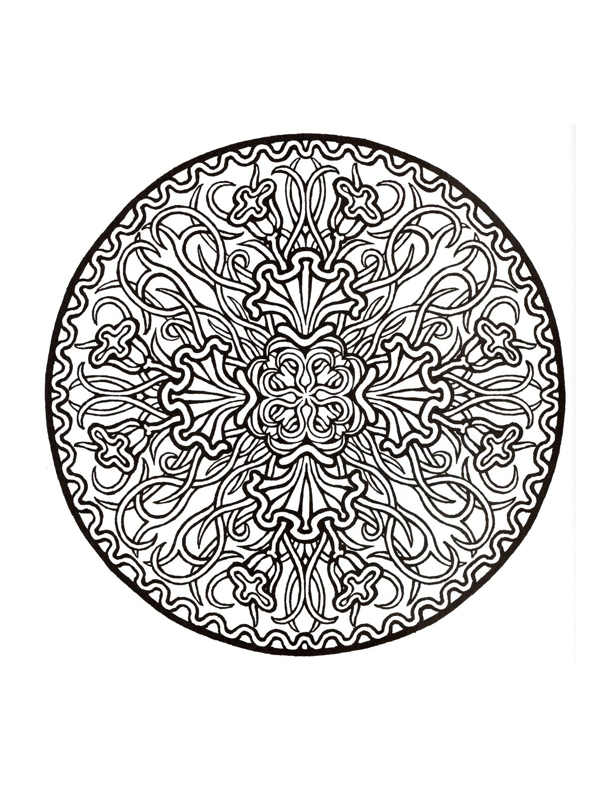Jewish mandala coloring pages - Mystical Mandala Coloring Book