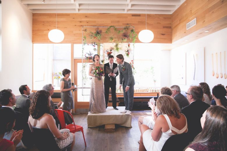 A Golden And Glamorous Restaurant Dinner Party Wedding