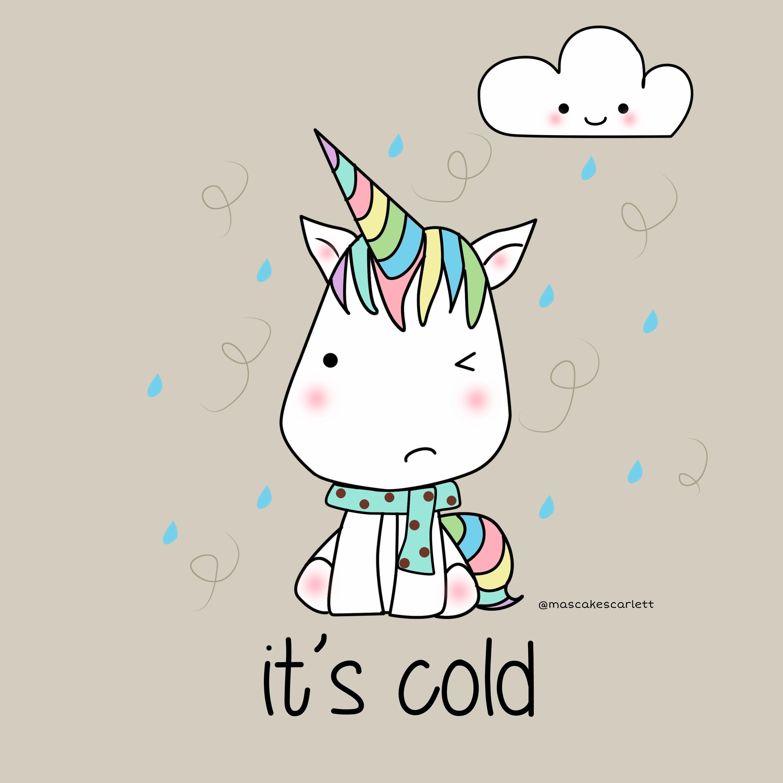 Unicorn kawaii cold image super jolie pinterest licornes - Dessin licorne kawaii ...