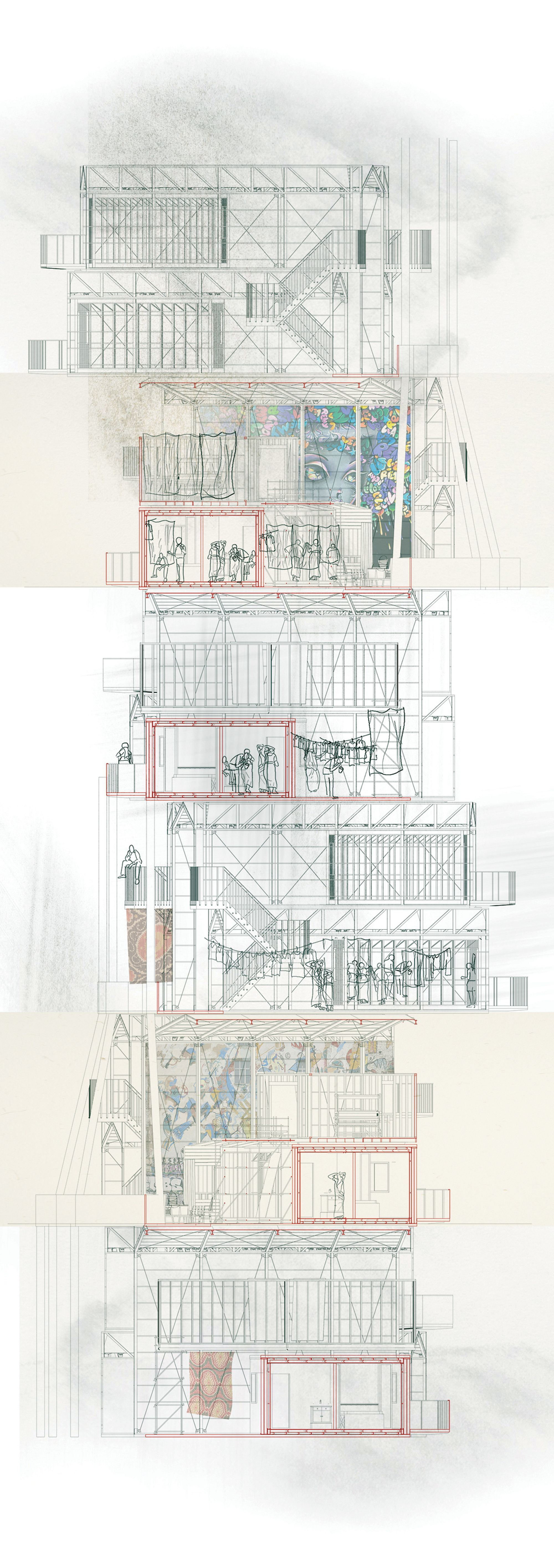 Kevin Woodward Slum City Immigration Centre March Architecture