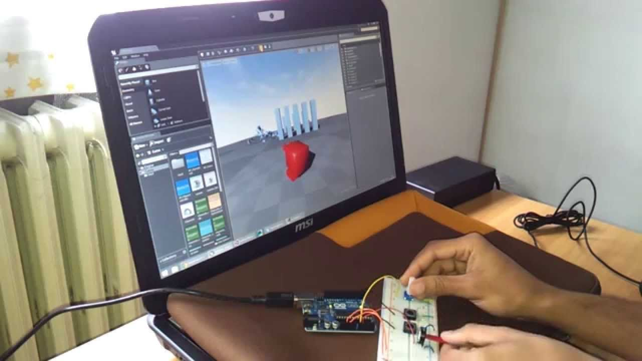 Unreal Engine 4 custom controller with Arduino UNO | UNREAL