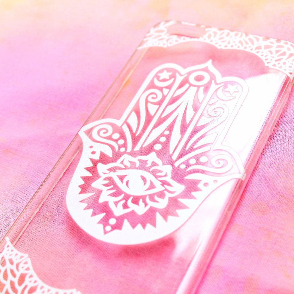 Clear Phone Case | White Henna Hasma | IZZY California – Izzy California