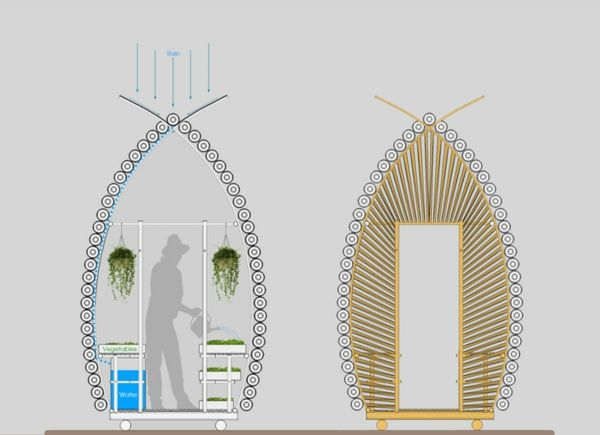 kleines gew chshaus selber bauen mini treibhaus aus plastikflaschen garten pinterest. Black Bedroom Furniture Sets. Home Design Ideas