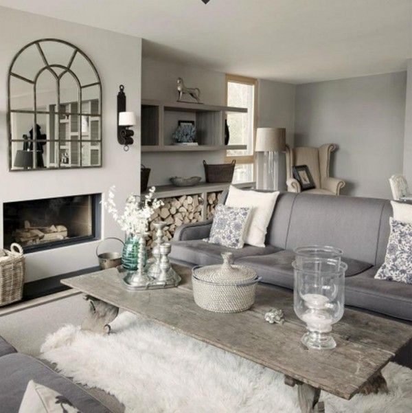 Wonderful Rustic House In A Swedish Village : Traditional Living Room  Design Of Lake House In