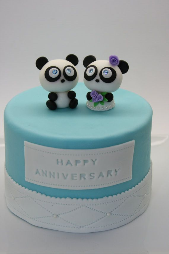 Swear to Gosh I WILL Have These At My Wedding!!!!!!!! They're Love Pandas Cake Topper by BeautifulKitchen on Etsy, $80.00!!! I love themmm! :)