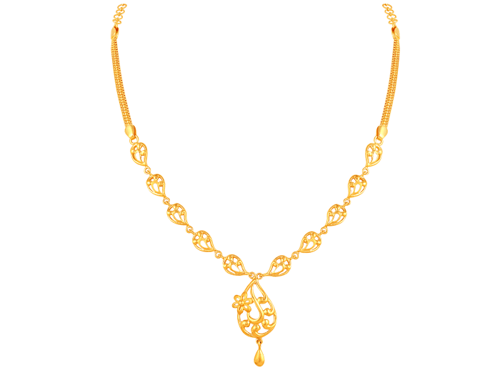 21 Gorgeous Gold Necklace Designs In 15 Grams South India Jewels Gold Necklace Designs Necklace Designs Gold Earrings Designs