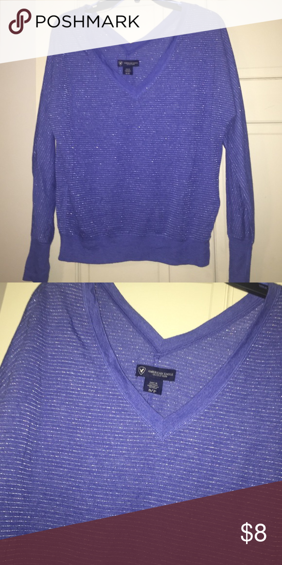 NWOT American Eagle V-neck sweater Beautiful colors and style! Never worn American Eagle Outfitters Tops Tees - Long Sleeve