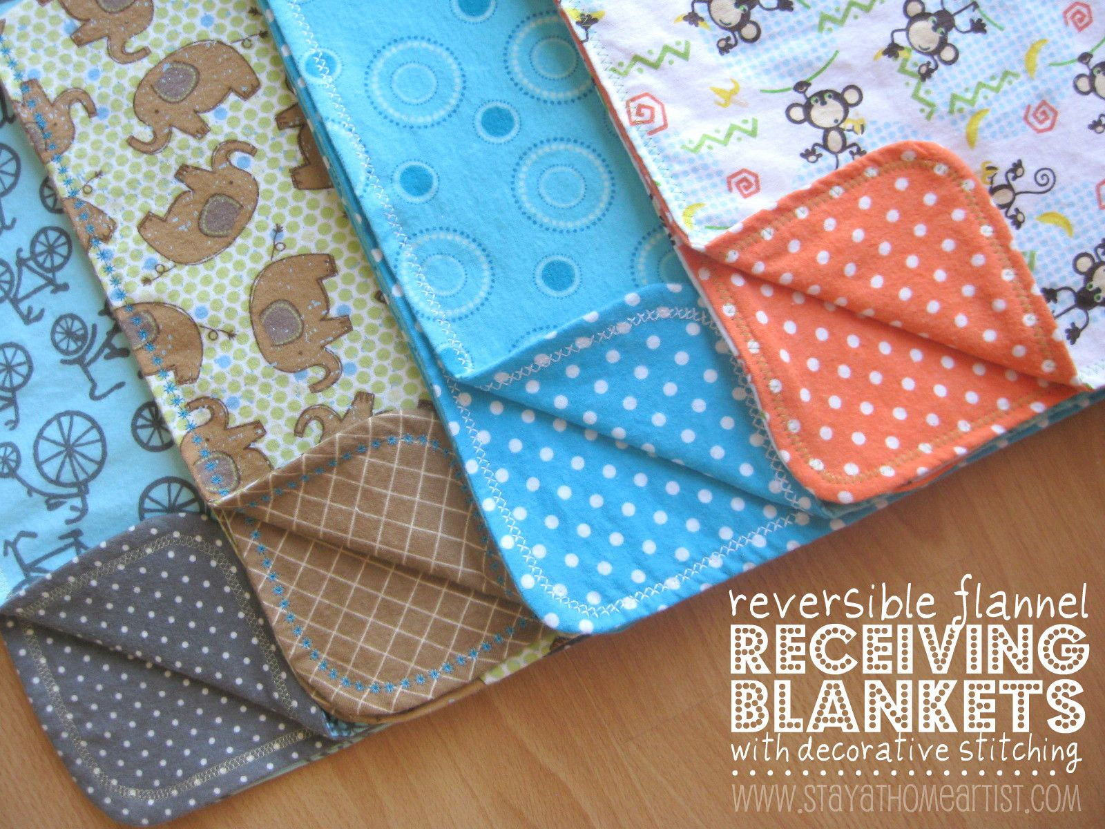 Easy sewing projects for beginners flannels blanket and babies sew baby how to make reversible flannel receiving blankets im going to do this because jeuxipadfo Gallery