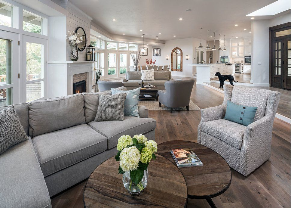 Cottage/Country Living Room Design Photo By Jordan Iverson Signature Homes
