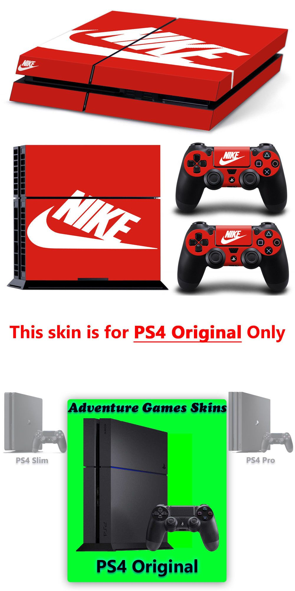 ba26221875f7d Faceplates Decals and Stickers 171668: Ps4 Original - Nike Vinyl ...