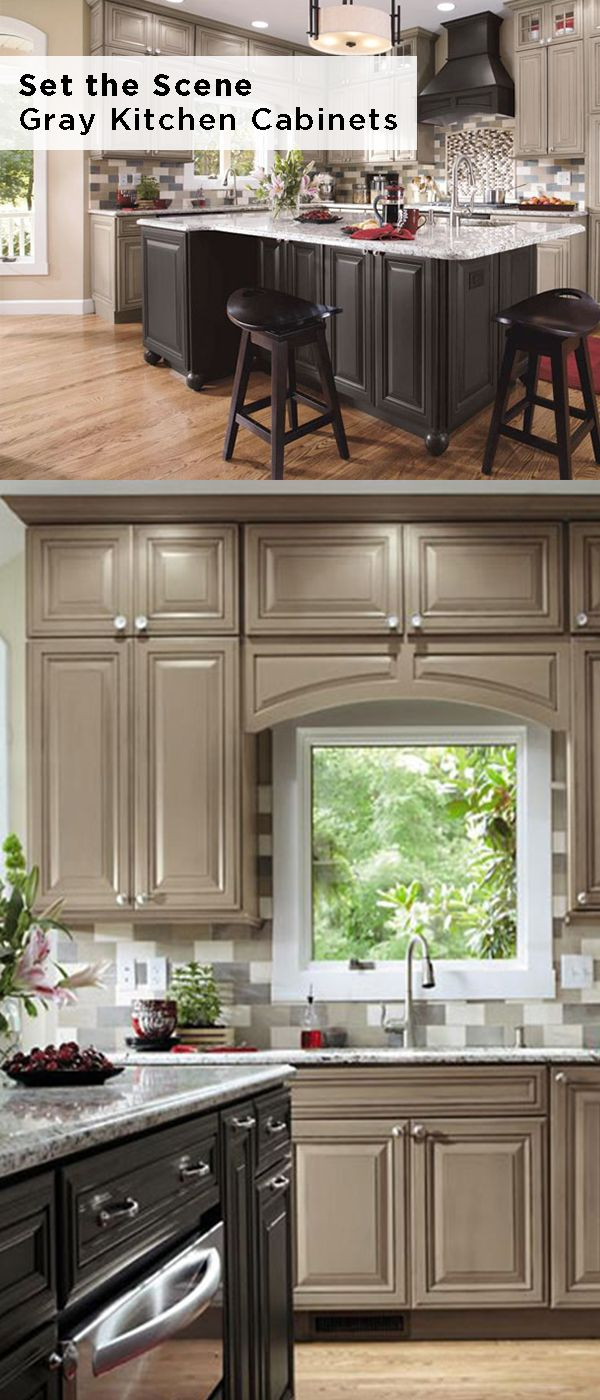 Rely On Decora Cabinets To Set The Scene Let Lexington Door Style Decora Cabinets In A Mix Of Gray Grey Kitchen Cabinets New Kitchen Cabinets Decora Cabinets