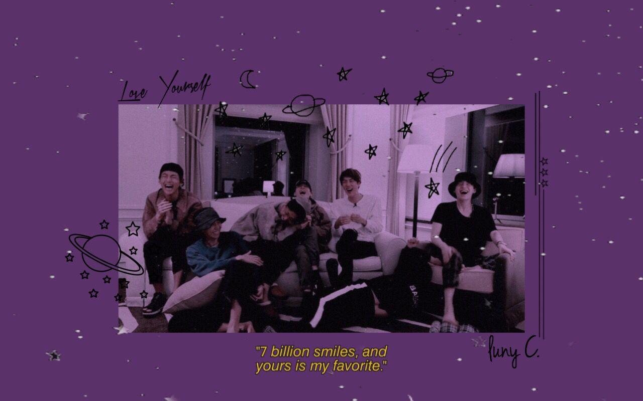 Purple Means Love Letras De Flores Fotos Tumblr De Chicos Fondos De Pantallla Bts purple aesthetic wallpaper desktop