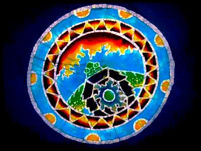 Aztec Turtle Batik TShirt at four directions