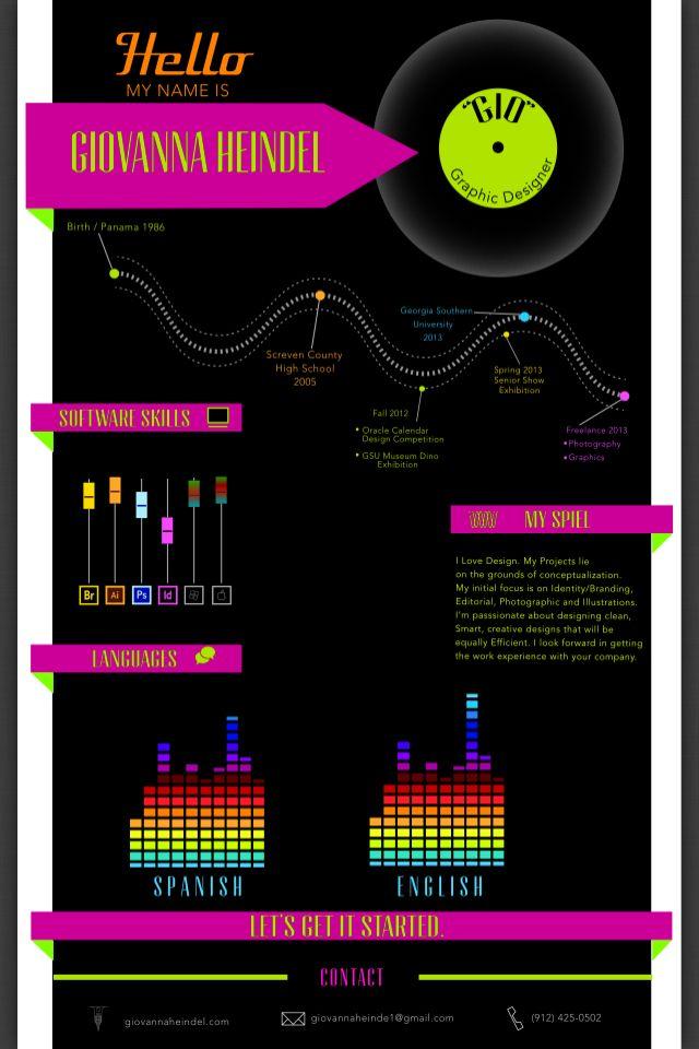 My Infographic Resume Infographs Infographic Resume Creative