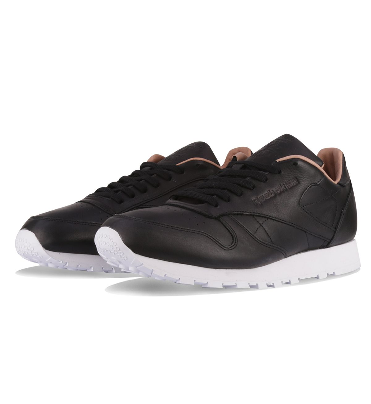 Reebok CL Leather PN Black   White - Reebok These Reebok Classic Leather  PNs in black have premium leather uppers 057b24830